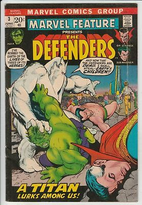 Marvel Feature #3 presents The Defenders strict FN/VF+  7.5 High-Grade