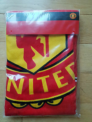 Manchester United Fc Official Beach Towel Large New In Packet