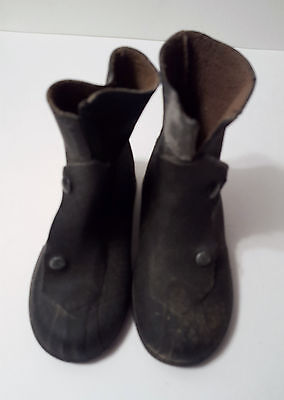 Vintage Children's Rubber Boots Overshoes Galoshes Snap Style