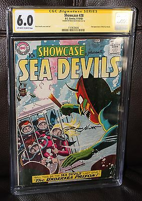 Showcase #28 CGC 6.0 OWW 2nd appearance of Sea Devils - Russ Heath Signature