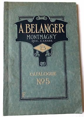 Rare Antique Catalog Foundry A.belanger Montmagny Stove/agricultural Implements+