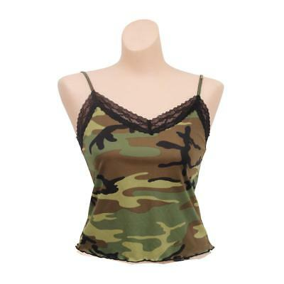 Rothco Women's Sexy Lace Trimmed Camouflage Camisole, Tank Top, Woodland Camo