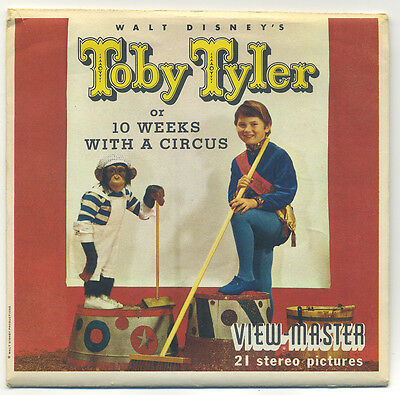 Walt Disney's Toby Tyler or 10 Weeks with a Circus 1960 View-Master Packet B-476