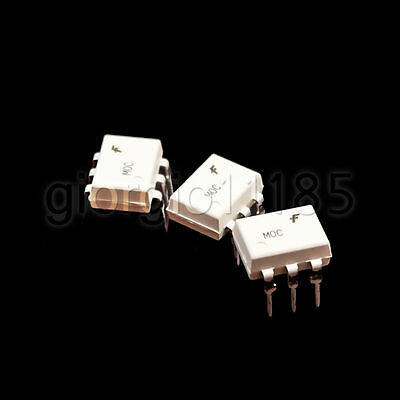 10 pcs Fairchild MOC3021 Random-Phase Optoisolators Triac Driver Output DIP 6