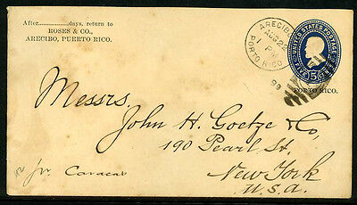 Puerto Rico Postal Stationery Entire U2 UPSS 2 Earliest Reported Usage 6B18 37