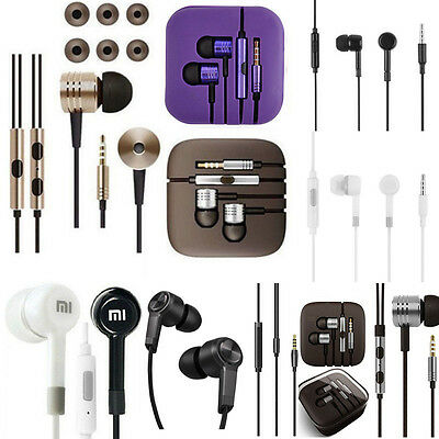 For iPhone Xiaomi 3.5mm Stereo Piston In-Ear Earphone Headset Headphone WITH Mic