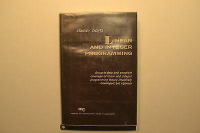 #JB28 LINEAR AND INTEGER PROGRAMMING Book by Stanley Zionts Copyright 1974