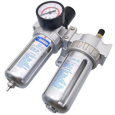 New SFC-200 Pneumatic Air Filter Pressure Regulator lubricator Combination 1/4""