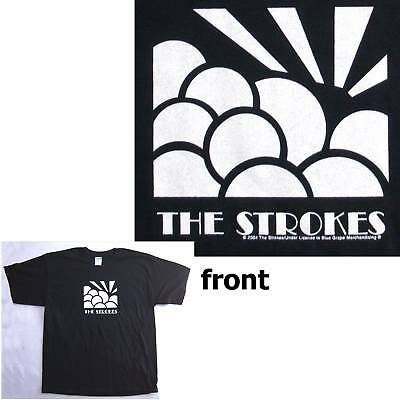 The Strokes! Rising Sun Image 2004 Black T-Shirt Xl New
