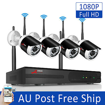 4CH 720P HD 1.0MP Wireless Security IP Camera System 1080P NVR Home Surveillance