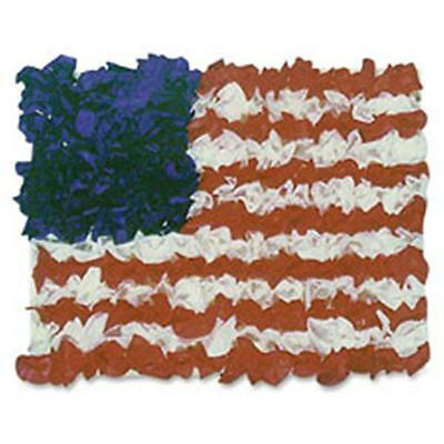 Hygloss Products HYX41004 American Flag Tissue Craft Kit