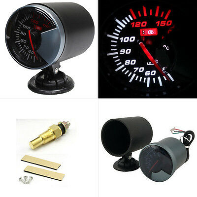 60mm Universal Car MT Water Temperature Temp Meter Gauge Thermometer LED Light