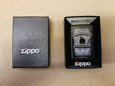 (pa2) Zippo Windproof Lighter Riders Motorcycle Club - Boxed - Unused