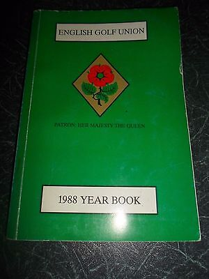 English Golf Union Year Book 1988 Includes Small Number of Photographs