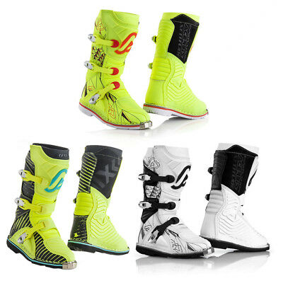 Stivali Off Road Cross Enduro Acerbis Shark Junior Bambino Bianco Nero Giallo