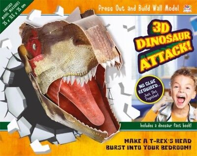 3D Dinosaur Attack! (Press Out & Build Wall Model) (Paperback), N. 9781782449188