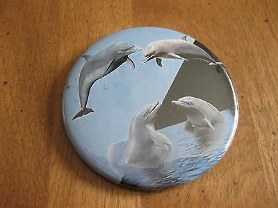 Vintage Dolphins  Button Pin