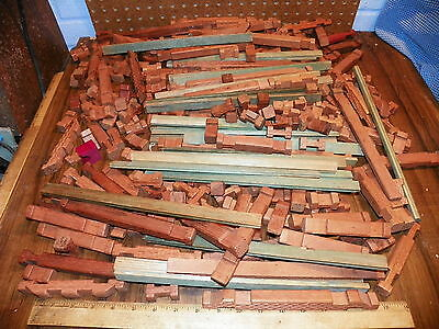 Vintage Lot of AMERICAN LOGS Wood Building Pieces