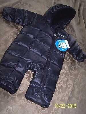 Columbia Frosty Freeze Bunting Infant Snowsuit Size 0-3 mo Black NWT