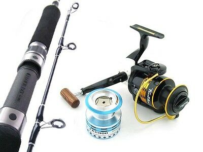 SARATOGA Carbon Fibre 6'3 24kg 8BB Jigging Spinning Fishing Rod and Reel Combo