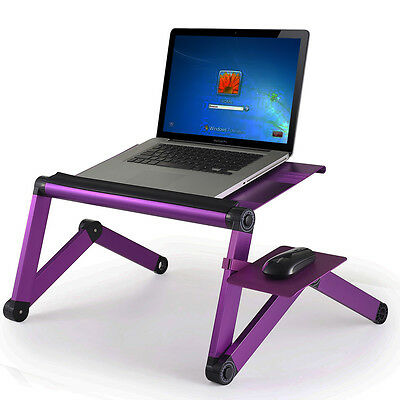 Furinno Mousepad Attachable to Aluminum Folding Laptop Notebook Stand Purple