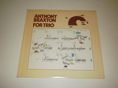 Anthony Braxton - For Trio - Lp 1978 Arista Made In U.s.a. W/insert - Nm/vg++