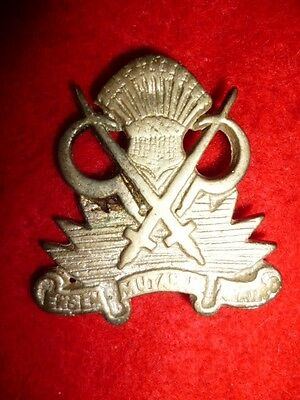 Indian Army Military Farms Department Cap Badge - Colonial India