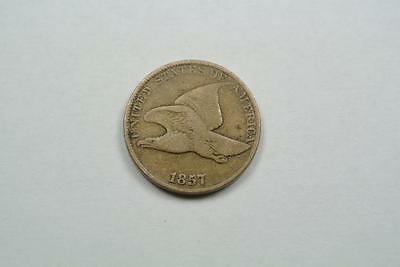 1857 Flying Eagle One Cent, Fine Condition - C1842
