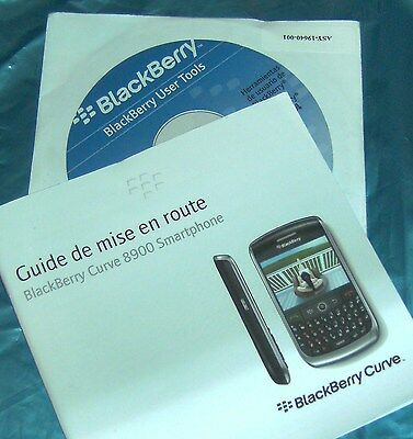 NEW Blackberry Curve 8900 FRENCH Manual / CD Guide De Mise En Route