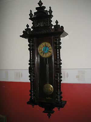 Antique Schlenker & Kienzle Vienna Regulator Wall Clock Working.