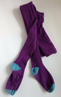 Mini Boden Purple Turquoise Ribbed Tights 11-12 Y