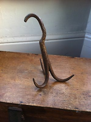 DECORATIVE  ANTIQUE WROUGHT IRON HOOK 9 inches