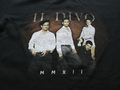 Il Divo Wicked Game Word Tour Black T Shirt Size S Small M Medium