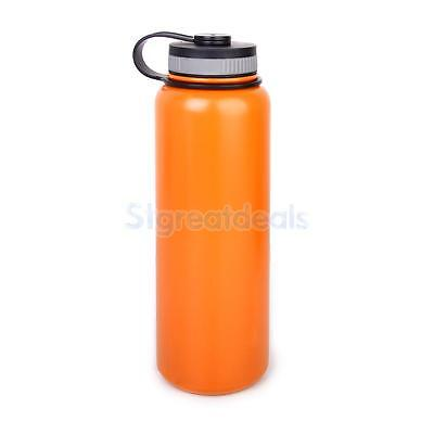 1L 32oz BPA Free Wide Mouth Insulated Vacuum Water Bottle Stainless Steel