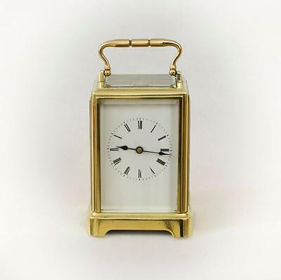 STRIKING CARRIAGE CLOCK - FRENCH LATE 19TH.C 'ONE-PIECE-CASE' [663cc]