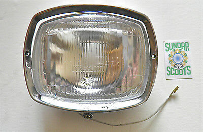 Headlight Polished Rim Glass Lens.cev & Innocenti Markings.for  Gp Lambretta