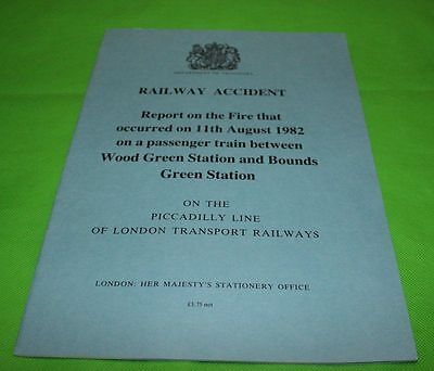 Railway Accident Report Fire On Passenger Train Wood Green 1982