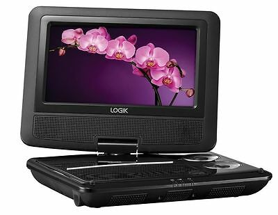 """7"""" Inch Portable DVD Player Rechargeable Swivel Screen In Car Charger USB 12V"""