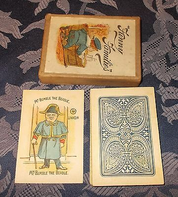 ANTIQUE PLAYING CARDS  FUNNY FAMILIES  BOXED   c.1900 / 1910