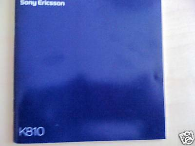Sony Ericsson K810 Original NEW User Manual. Others also available