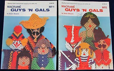 Macrame Guys 'N Gals No. 1 & 2 Pattern Books - Susan Schwartz