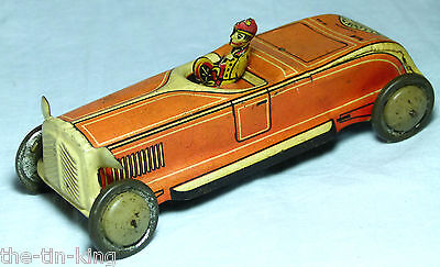 Rare Superb Penny Toy Tin Plate Golyt 145 Orange Roadster Germany 1920S
