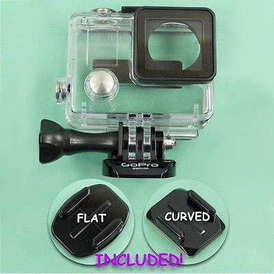 NEW GENUINE GoPro Standard Waterproof Housing Hero 3,3+,4 w/Mounts! ++FREE SHIP!