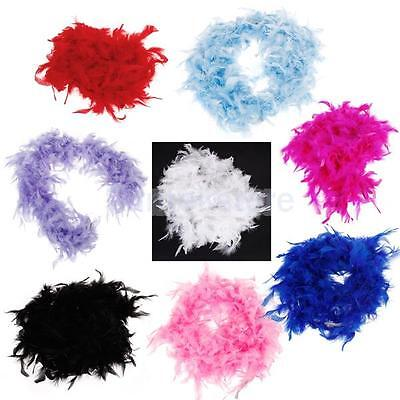 Feather Boas- 2M long Assorted Colors for Dress up,Bachelorette,School spirit