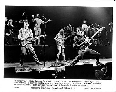 STOP MAKING SENSE movie photo print #1  DAVID BYRNE, TALKING HEADS 8 x 10 inches
