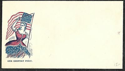 "CIVIL WAR Patriotic Envelope ""Our Country First"""