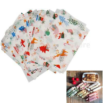 50pcs Wax Tissue Paper For Candy Food Sweets Confectionary Wrapping 9x12.5cm