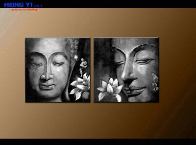 Modern Black and white Buddha ABSTRACT OIL PAINTING Canvas Wall Art Decor oil148