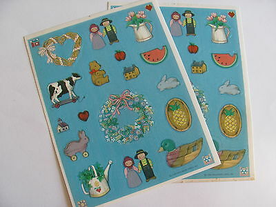 Two Vintage Hallmark Country Home Sticker Sheets