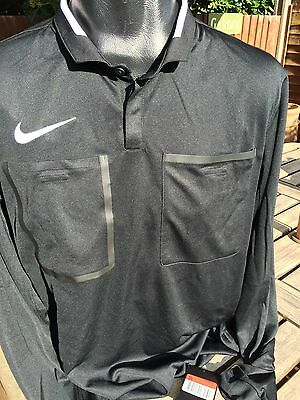 Nike Referee Shirt Jersey All Black Size XXL Premier League Dri-Fit Brand New